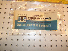 Mercedes W108,109 THERMO King AC system RARE Owner's booklet and warranty ,3-68