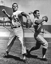 1966 Los Angeles Dodgers SANDY KOUFAX & DON DRYSDALE Glossy 8x10 Photo Print