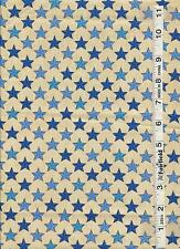 Sweet Land of Liberty Ivory Blue Stars by Henry Glass  bty PRICE REDUCED