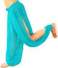 MULTI SLITS HAREM YOGA GENIE TROUSER PANT BELLY DANCE COSTUME DRESS TURQUOISE