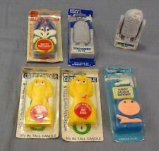 Lot of 6 Vintage Wilton Birthday Candles R-2-D2 Ziggy Big Bird Bugs Bunny