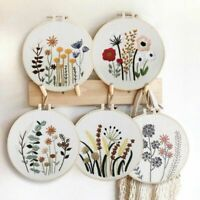 DIY Handmade Embroidery Kits With Pattern Cross Stitch With Embroidery Hoop