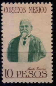 MEXICO 10 Pesos ( Justo Sierra ) Scott 828 Wmk 279 MNH  CV,150