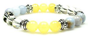 MEMORY BOOST 8mm Crystal Intention Bracelet w/Description Card - Healing Stone