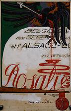 Pierre LEGRAIN (1889-1929) Projet de 1916 pour La Baïonnette alsace lorraine