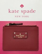 New Kate Spade Adi Grove Street Leather Card Coin Case Wallet Holder Red Carpet