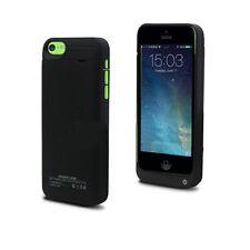Negro De Respaldo Cargador Caja De Batería Para Iphone 5 5s 5c 1 Año De Garantía delgada, liviana
