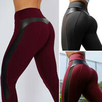 Women Sports Mesh YOGA Pants Workout Gym Fitness Leggings Jumpsuit Athletic X722