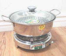 Stainless steel shabu shabu hot pot set 24 cm Bộ bếp cồn nồi lẩu  鍋火鍋陶器 new