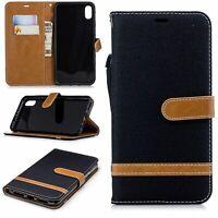 Apple IPHONE XS Max Cellphone Case Schutz-Tasche Cover Card Compartment Black