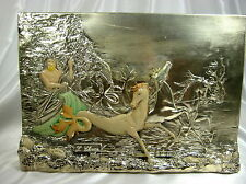 ANTIQUE ITALIAN POSEIDEN STERLING SILVER PLATED ARG 925 PLAQUE SIGNED F. CHIRICO