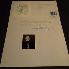 Dr. VIKTOR SCHÖNBÄCHLER †1996 Abt Disentis (CHE) 1963–1988 signed Brief 20x30