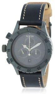 Nixon Chronograph Leather Ladies Watch A5041930