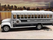 "5"" Kinsmart County Sheriff Department Prison Bus - Perfect for use in Dioramas"