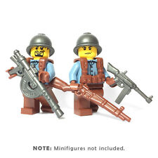 Custom FRENCH INFANTRY 10 pc. Accessory Pack for LEGO WWII Figures Brickwarriors
