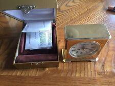Ho 00006000 ward Miller Quartz Brass Carriage Clock Mantle Desk For Parts Or Repair