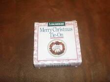 Longaberger 1996 Christmas Holiday Cheer Basket Tie-On