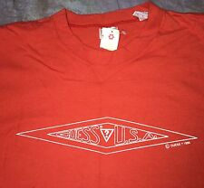 SCE Vintage Guess Jeans USA orange Tee Shirt M 1994