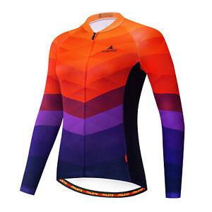 Women's Cycling Jersey Clothing Bicycle Sportswear Long Sleeve Bike Shirt J83