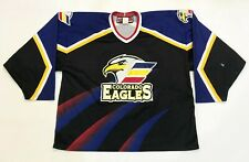 SP Sportswear CHL Colorado Eagles Hockey Jersey Man XL Black Canada Sewn