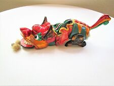 Vintage Chinese Wood Parade Pull Toy Dragon Lion New Year Hand Crafted Puppet