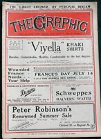 The Graphic WW I orig 1918 British Magazine w Italian / Austrian Front