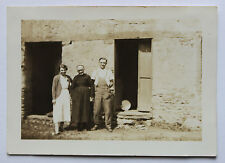 Vintage Photo Snapshot 1936 Bretagne famille en vacances campagne bretonne