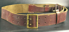 WWII WW2 MILITARY GERMAN OFFICER LUGER P 08 HOLSTER LEATHER BELT MARKED