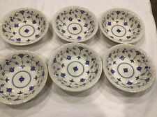 6 Myott Meakin Staffordshire Finlandia Coupe Soup Cereal Bowls