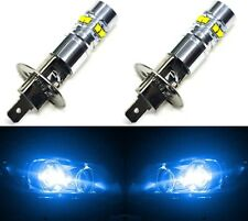 LED 50W H1 Blue 10000K Two Bulbs Fog Light Replacement Show Use Plug Play