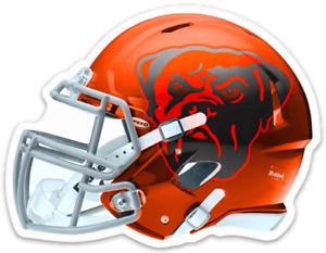 Cleveland Browns Chomps Mascot Logo Type Helmet Die-cut MAGNET