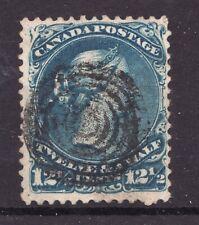 Sc #28 - Queen Victoria 12½¢ - 1868 - Large Queen ~ Superfeas - est/$85