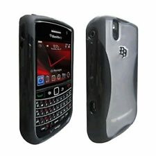 Verizon High Gloss Silicone Case for BlackBerry Bold Tour 9630 9650 - Black