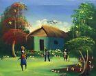 """ORIGINAL HAITIAN FOLKART PAINTING BY TODD """"LITTLE HOUSE ON PRAIRIE"""" 10X08 HAITI"""