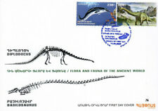 Armenia 2020 Fdc Flora and Fauna of the Ancient World Basilosaurus Diplodocus