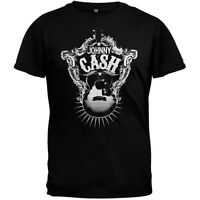 Johnny Cash - Guitar Target Soft Adult Mens T-Shirt