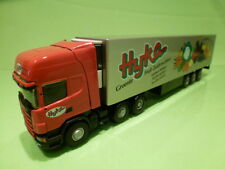 LION CAR SCANIA 164L 580 TRUCK + TRAILER - HIJKO BV - RED 1:50 - VERY GOOD