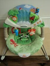 Fisher Price Rainforest Bouncer Seat, Vibrates, Lights, Music, Nature Sounds