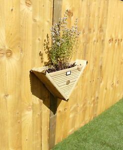 90° Herb Wall Hanging Post Mounted - Vertical Garden Decking Planter Basket
