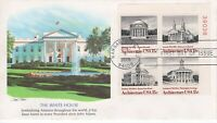 1979 COMMEMORATIVE ARCHITECTURE PLATE BLOCK OF 4 FLEETWOOD CACHET+STORY UNAD FDC