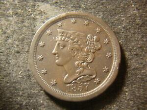 1857 AU BU Glossy Sharp Braided Hair Half Cent