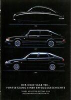 Saab 900 Prospekt 1993 Fortsetzung einer Erfolgsgeschichte brochure broschyr PKW