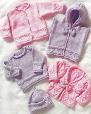 DOLL PREMATURE BABY TO 2 YEARS KNITTING PATTERN 12/22 INCH  (992)