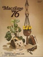 Macrame '76 Vintage Instruction Book NEW 1976 Plant Hangers Owl Purse Belts