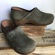 Sanita Olive Green Suede Leather 40 Womens 10