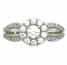 14K White Gold Engagement Ring 1.00 Total Carat Weight Diamonds Vs2