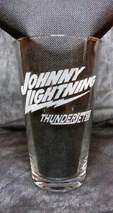 Laser Engraved Slot Car Designs PINT Drinking/Bar glass - JOHNNY LIGHTNING