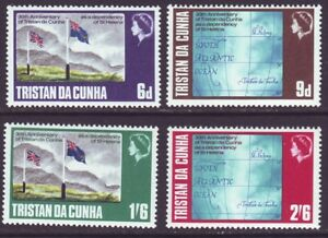 Tristan da Cunha 1968 SC 120-123 MNH Set Dependency 30th Anniversary