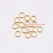 200pcs in bulk Gold Stainless steel Jump Ring Open Ring Finding Jewelry 1*6mm