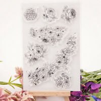 flowers transparent clear silicone stamp for diy scrapbooking photo decor BDAU